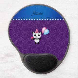 Custom name birthday panda purple half circles gel mouse mat