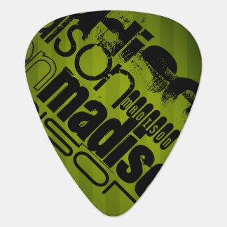 Custom Name, Black and Olive Green Guitar Pick