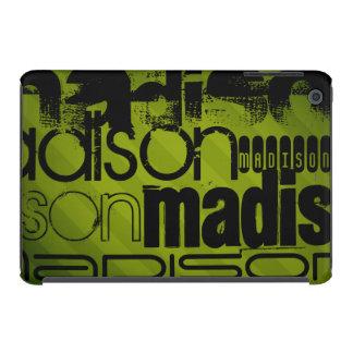 Custom Name, Black and Olive Green iPad Mini Cases