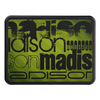 Custom Name, Black and Olive Green Tow Hitch Cover
