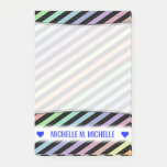 [ Thumbnail: Custom Name; Black & Pastel Color Lines Pattern Notes ]