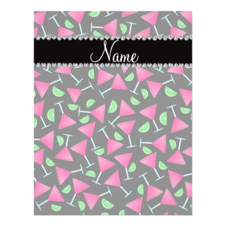 "Custom name black pink cosmos limes 8.5"" x 11"" flyer"