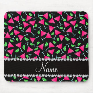 Custom name black pink cosmos limes mouse pad