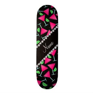 Custom name black pink cosmos limes skateboard decks