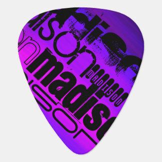 Custom Name; Black, Pink, Violet Blue, Magenta Guitar Pick