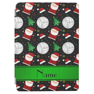 Custom name black volleyball christmas pattern iPad air cover