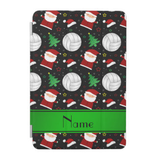 Custom name black volleyball christmas pattern iPad mini cover