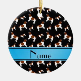 Custom name black Welsh Springer Spaniel dogs Ceramic Ornament