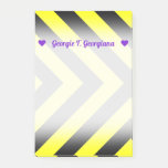 [ Thumbnail: Custom Name + Black & Yellow Chevron-Like Pattern Notes ]