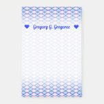 [ Thumbnail: Custom Name + Blue and Pink Diamond Shape Pattern Notes ]