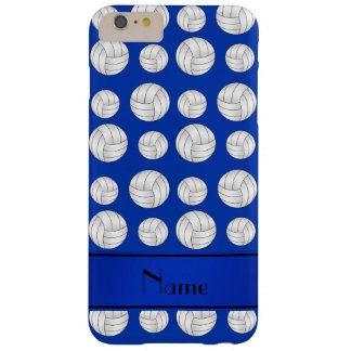 Custom name blue volleyballs blue stripe barely there iPhone 6 plus case