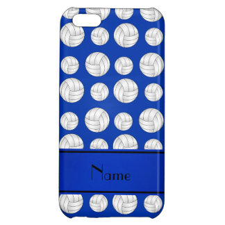 Custom name blue volleyballs blue stripe iPhone 5C covers