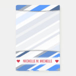 [ Thumbnail: Custom Name; Blue/White/Gray Lines/Stripes Pattern Notes ]