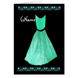 CUSTOM NAME Bridesmaid Invitation MINT GREEN Gown