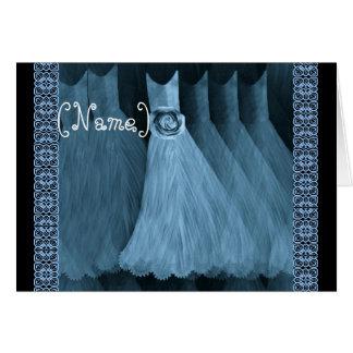 CUSTOM NAME Bridesmaid Invitation SKY BLUE Gowns Cards