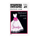 CUSTOM NAME Bridesmaid Luncheon with Wedding Gown Stamp