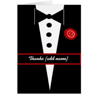 CUSTOM NAME Bridesman Wedding Thank You Greeting Card