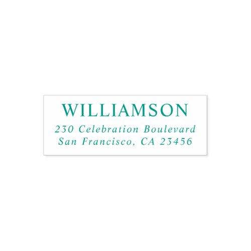 Custom Name Business Personalized Return Address Self_inking Stamp