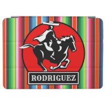 Custom NAME Charro Horse Spanish Mexican Serape iPad Air Cover