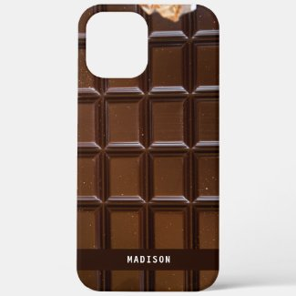 Custom Name Chocolate Candy Bar Chocolate Lover Case-Mate iPhone Case by Sandyspider
