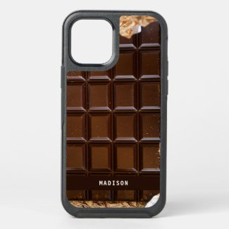 Custom Name Chocolate Candy Bar Chocolate Lover OtterBox iPhone Case by Sandyspider