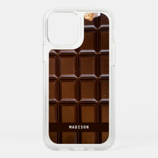 Custom Name Chocolate Candy Bar Chocolate Lover Speck iPhone Case by Sandyspider