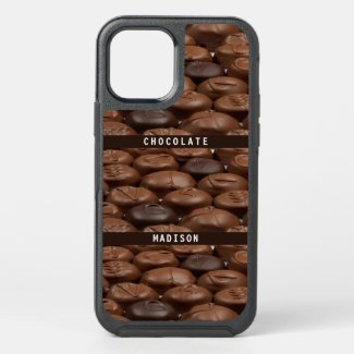 Custom Name Chocolate Candy Truffles Food Lover OtterBox iPhone Case by Sandyspider