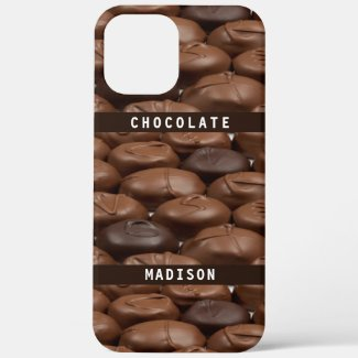 Custom Name Chocolate Candy Truffles Foodies Lover Case-Mate iPhone Case by Sandyspider