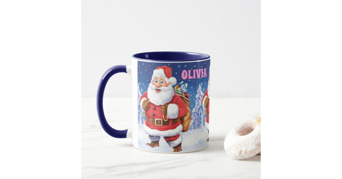 Christmas Coffee Mug Jolly Santas