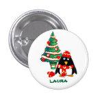 Custom Name. Christmas Gift Buttons Button