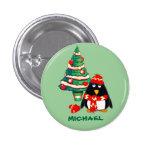 Custom Name. Christmas Gift Buttons Pins