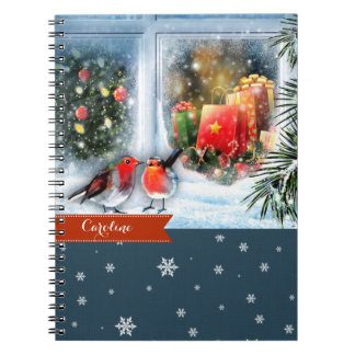 Custom Name Christmas Gift Notebooks