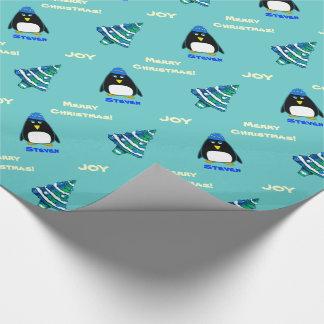 Custom Name Christmas Gift Wrapping Paper