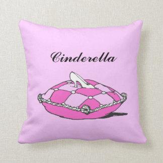 Custom Name Cinderella Slipper Pink Pillow