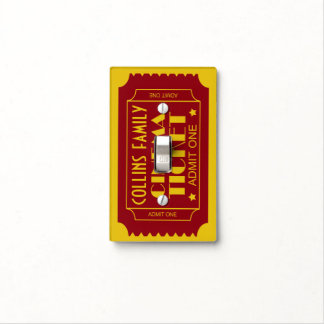 Custom Name Cinema Ticket Admit One Light Switch Cover