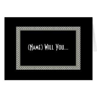 CUSTOM NAME Coin Bearer Invitation Greeting Card