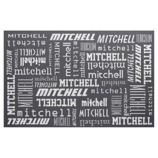Custom Name & Color fabric