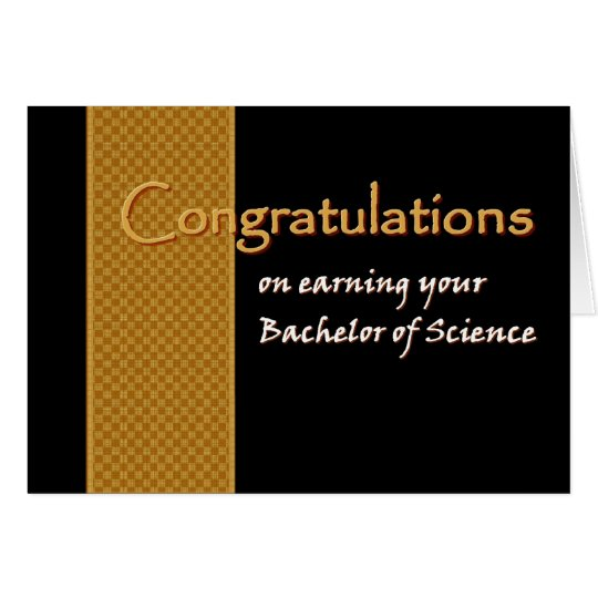 CUSTOM NAME Congratulations - Bachelor of Science Card