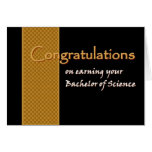 CUSTOM NAME Congratulations - Bachelor of Science Greeting Card