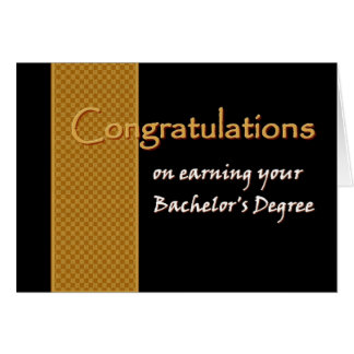 CUSTOM NAME Congratulations - Bachelor's Degree Greeting Card