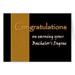CUSTOM NAME Congratulations - Bachelor's Degree Greeting Card