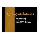 CUSTOM NAME Congratulations - CPA Exam Card