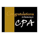 CUSTOM NAME Congratulations - CPA Greeting Card