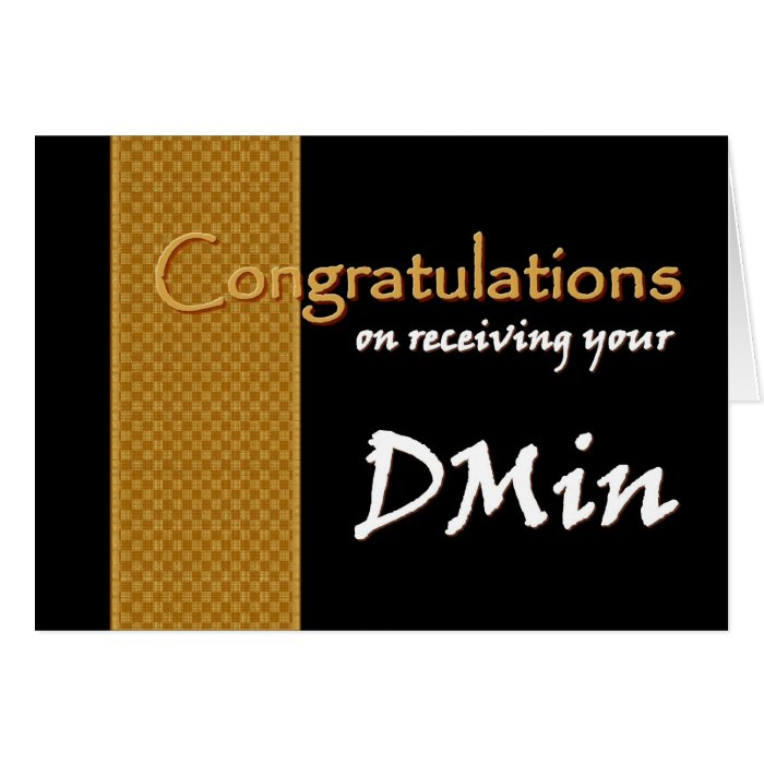 CUSTOM NAME Congratulations - Doctor of Ministry Card