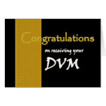 CUSTOM NAME Congratulations - DVM Greeting Card