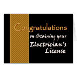CUSTOM NAME Congratulations Electrician's License Greeting Card