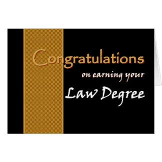 CUSTOM NAME Congratulations - Law Degree Greeting Card