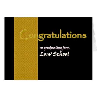 CUSTOM NAME Congratulations Law School Graduate Greeting Card