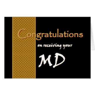 CUSTOM NAME Congratulations - M.D. Cards