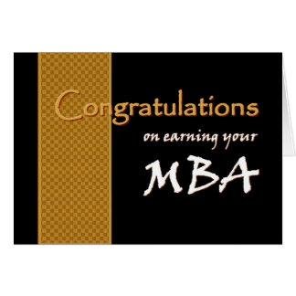CUSTOM NAME Congratulations - MBA Greeting Card